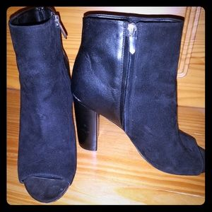 Sam Edelman open toe zipped booties
